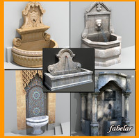 3d model water fountains