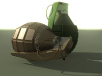3d model grenade visual arts