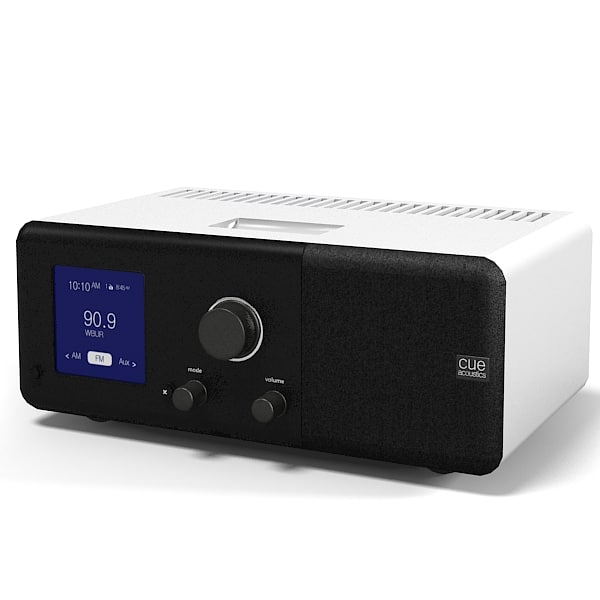 Cue Acoustic Table Radio iPod Dock alarm clock modern contemporary.jpg