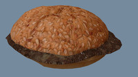 free hamburger buns 3d model