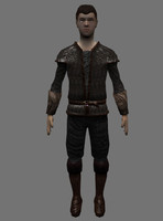 medieval young boy 3d obj
