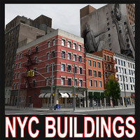 nyc city buildings 3d c4d