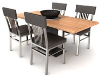 3ds max table set