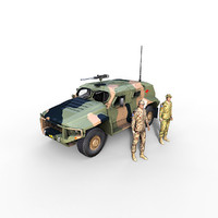 3ds max hawkei vehicle aus soldier