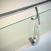 Steel railing with glass (type 4)