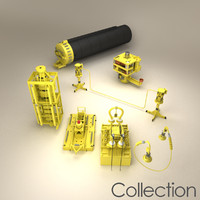 3d subsea production sub sea model