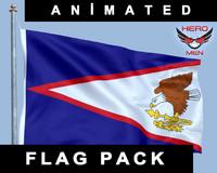 American Samoa Flag Animated