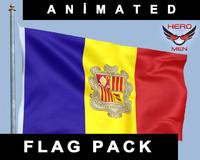 3d model flag andorra