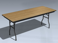 folding table 3d 3ds