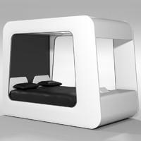 3d model futuristic bed