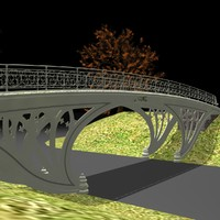 central park gothic bridge 3d 3ds