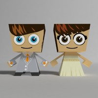 3ds max paper wedding toys
