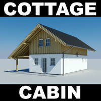 3d house cottage model