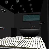 shower tub sauna 3d obj