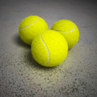 3d tennis balls model