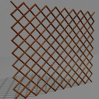 3d model chainlink fence