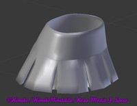 mini skirt cheerleader 3d model