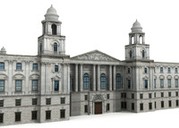 3d model hm treasury building