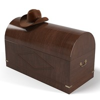 Caroti  furniture pirate trunk sea theme kid children and cowboy hat