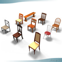 3ds max dining room chairs