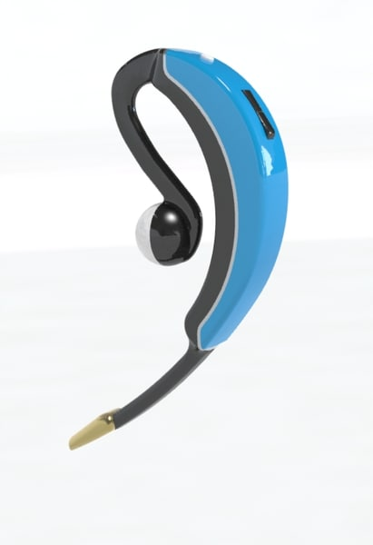 modeled 3d obj - Blutooth headset... by Design2Render