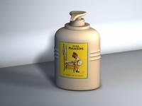 3d soap liquid model