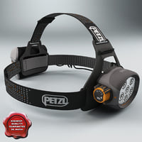 3d model headlamp petzl v2