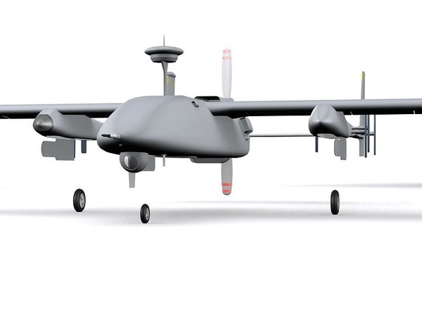 maya uav heron eagle - UAV Heron Eagle One... by GARYOSAVAN