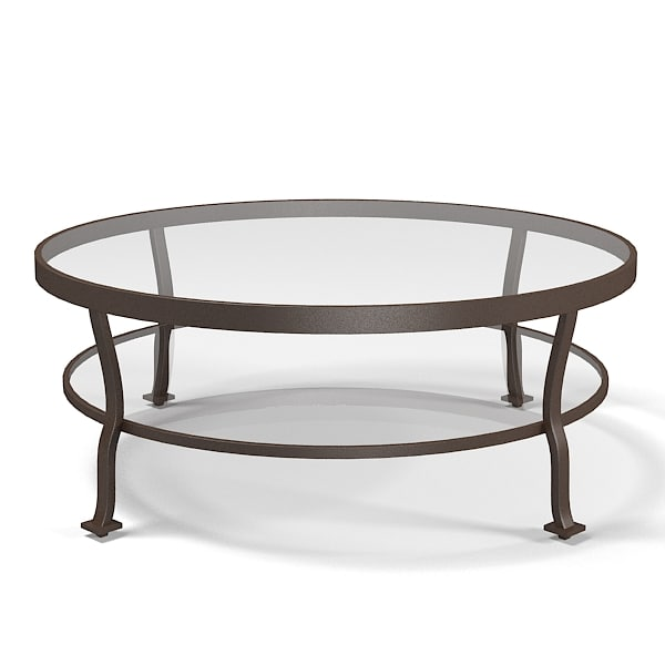 Mcguire Belmond Outdoor cocktail table glass round traditional art deco barbara barry.jpg