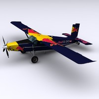3d pc-6 pilatus porter airplane
