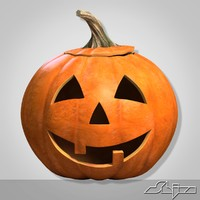 pumpkin head smile 1 3d model