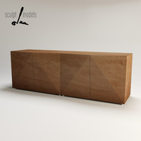 3d model riddled sideboard