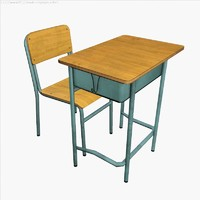 school desk 3d max