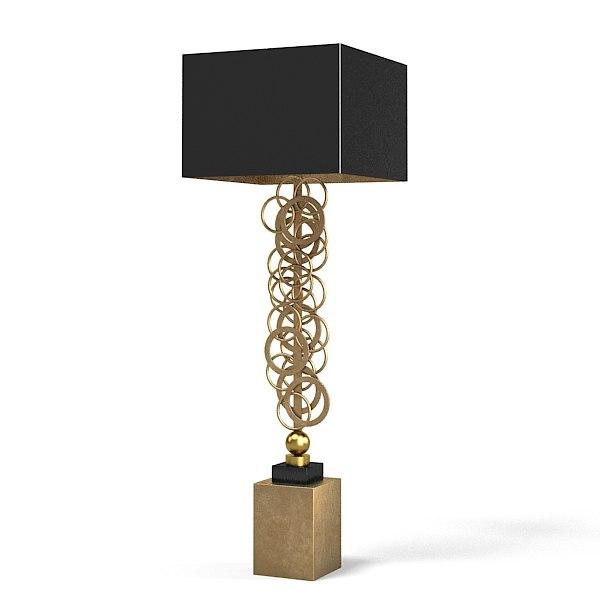 Sigma Elle Due Cl 1830 table lamp art teco big tall modern contemporary