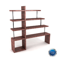 bookcase book 3d model