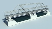 small steel bridge 3d model