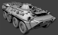 3d model btr-80 vehicle