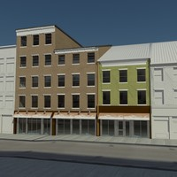 3d model row city