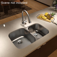 undercounter kitchen sink mixer obj