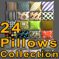 3d model of pillows seamless