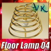 3d model modern floor lamp 04