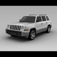 jeep patriot 2007 3d model