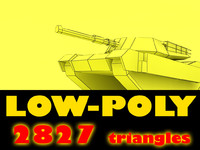 low-poly abrams m1 tank max
