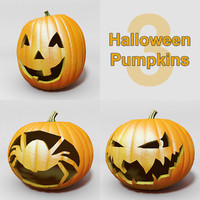 3 Halloween Pumpkins