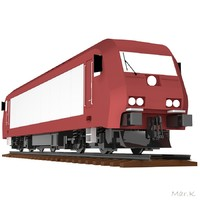 locomotive simens eurorunner 3d model