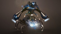 3d 3ds robot spider