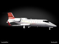 3d model learjet learjet60 60xr