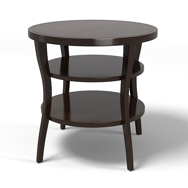 Baker Barbara Barry Round Tiered side end  table  3559 modern contemporary art deco.jpg
