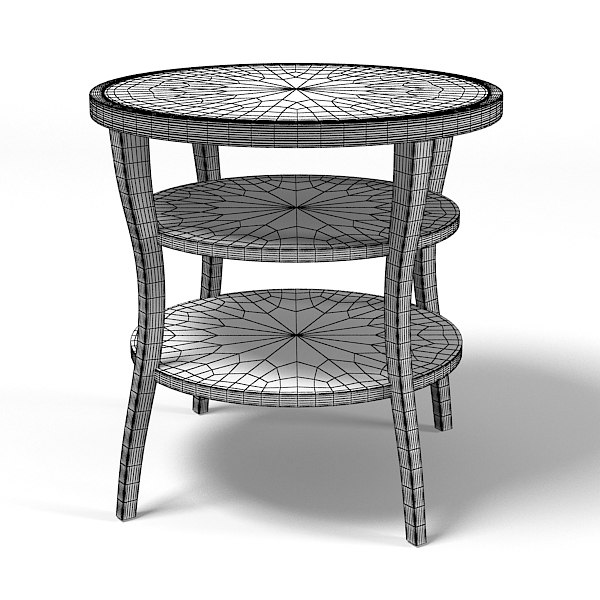 baker barbara barry 3d 3ds - Baker Barbara Barry Round Tiered side end  table  3559 mod... by shop3ds