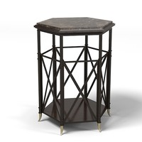 Baker Napoleon Drum table barble top 3765 m Jaquies garcia side end traditional art deco